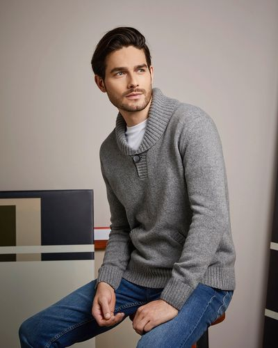 Paul Costelloe Living Shawl Collar Lambswool Jumper