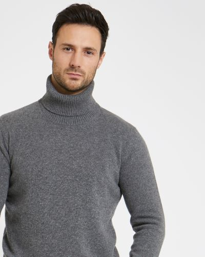 Paul Costelloe Living Grey Wool Cashmere Roll Neck (Made In Italy)