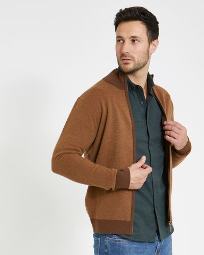 Paul Costelloe Living Wool Blend Zip Through Cardigan