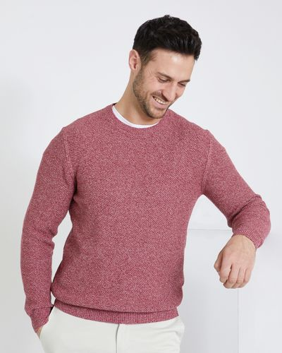 Paul Costelloe Living Coral Textured Crew Neck Jumper