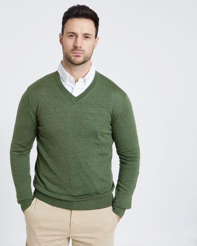 Paul Costelloe Living Green Merino Vee Neck