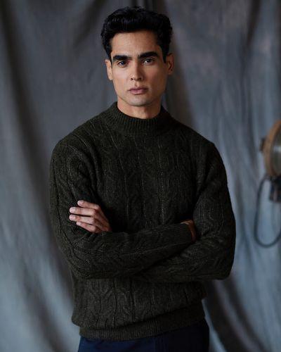 Paul Costelloe Living Green High Collar Knit