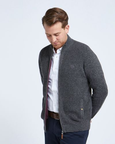 Paul Costelloe Living Charcoal Double Faced Zip Through