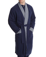 navy Paul Costelloe Living Stripe Shawl Robe