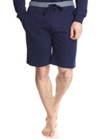 navy Paul Costelloe Living Stripe Waistband Lounge Shorts