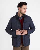 navy Paul Costelloe Living Quilted Jacket
