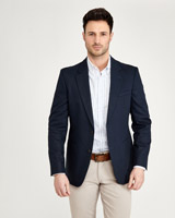 navy Paul Costelloe Living Textured Blazer