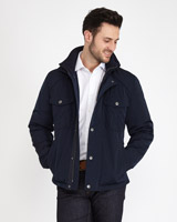 navy Paul Costelloe Living Pocket Detail Blouson Jacket