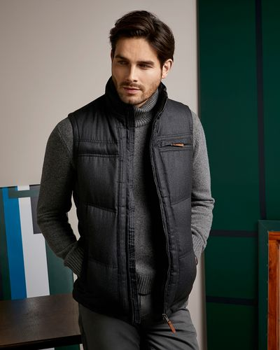 Paul Costelloe Living Herringbone Wool Look Gilet