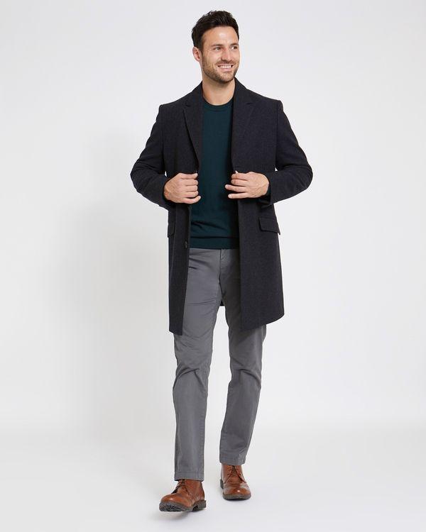 Paul Costelloe Living Charcoal Overcoat
