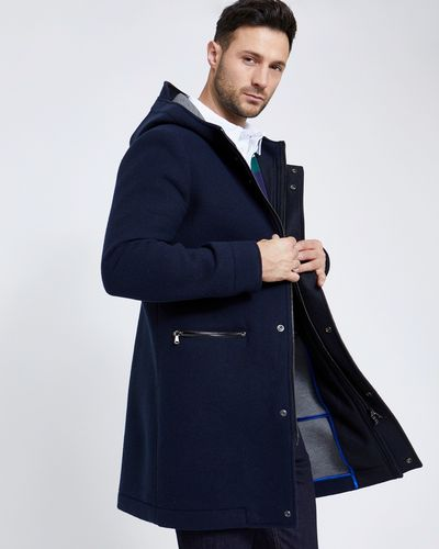 Paul Costelloe Living Navy Wool Mix Duffle Coat (Made in Italy)