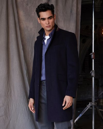 Paul Costelloe Living Navy Epsom Coat