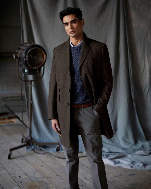 Paul Costelloe Living Brown Overcoat