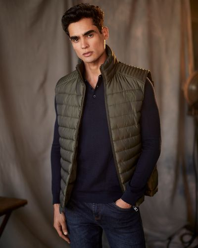 Paul Costelloe Living Khaki Padded Gilet thumbnail