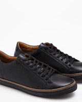 black Paul Costelloe Living Leather Trainers