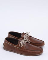 brown Paul Costelloe Living Leather Boat Shoes