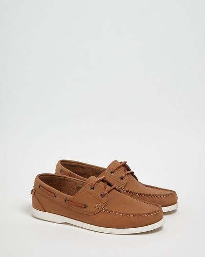 Paul Costelloe Living Tan Boat Shoes
