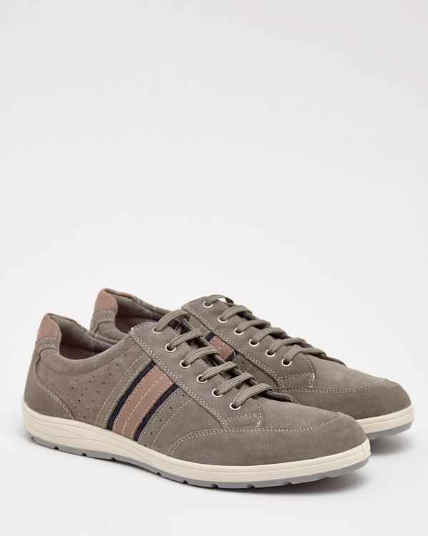 Paul Costelloe Living Grey Suede Trainers