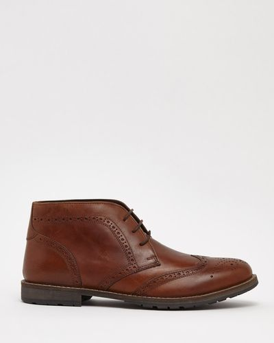 Paul Costelloe Living Leather Brogue Boots