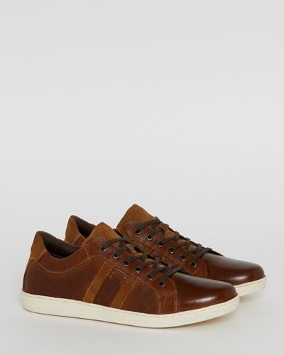 Paul Costelloe Living Leather Trainers