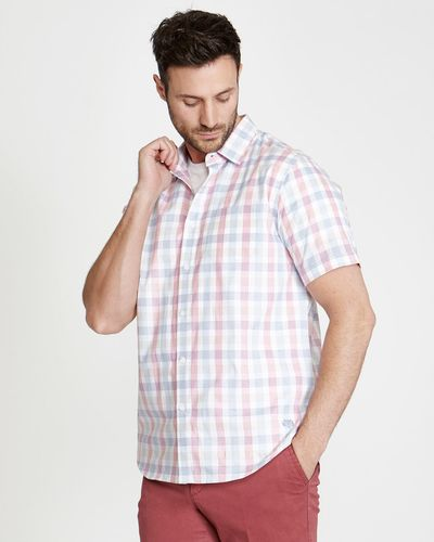 Paul Costelloe Living Regular Fit Short Sleeved Check Shirt