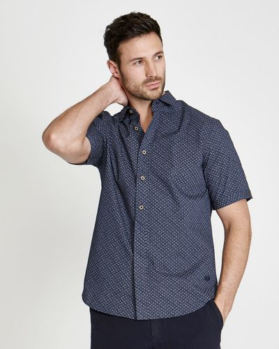 Paul Costelloe Living Regular Fit Short Sleeve Printed Shirt
