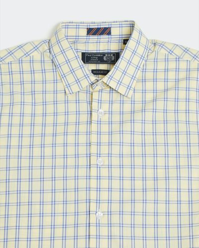 Paul Costelloe Living Regular Fit Yellow Short-Sleeved Shirt