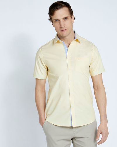 Paul Costelloe Living Lemon Short Sleeve Oxford