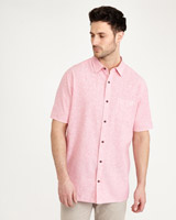 pink Paul Costelloe Living Pinstripe Linen-Blend Shirt