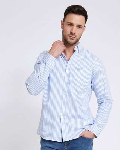 Paul Costelloe Living Stretch Regular Fit Oxford Stripe Shirt