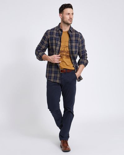 Paul Costelloe Living Regular Fit Mustard Check Shirt