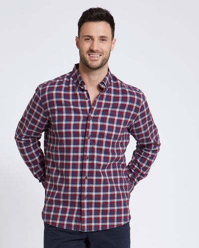 Paul Costelloe Living Regular Fit Red Check Shirt