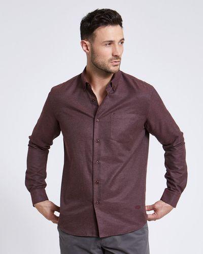 Paul Costelloe Living Regular Fit Wine Marl Shirt