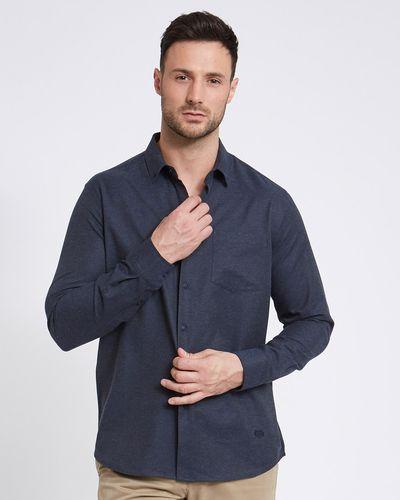 Paul Costelloe Living Regular Fit Navy Marl Shirt