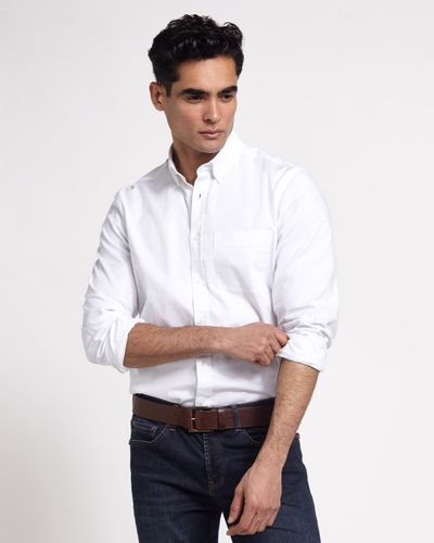 Paul Costelloe Living Regular Fit Stretch Oxford Shirt