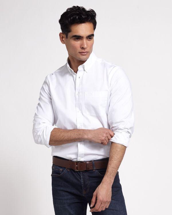 Paul Costelloe Living Regular Fit Stretch Oxford Shirt