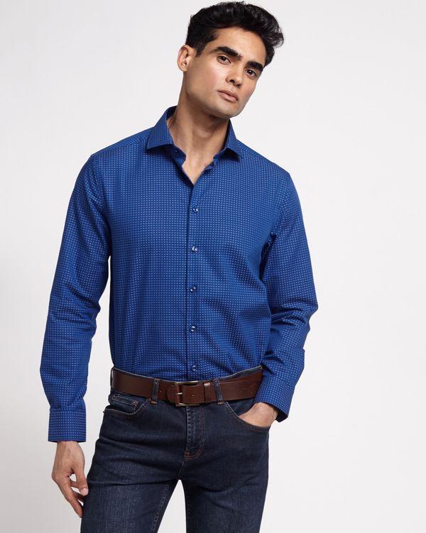 Paul Costelloe Living Regular Fit Dobby Textured Shirt
