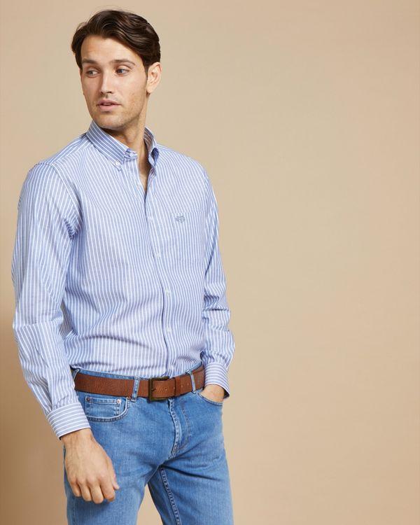 Paul Costelloe Living Stretch Regular Fit Oxford Stripe Shirt