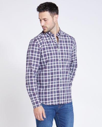 Paul Costelloe Living Regular Fit White Multi Check Shirt