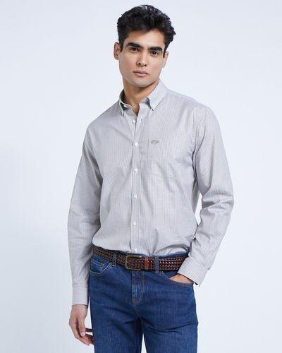 Paul Costelloe Living Khaki Stripe Oxford Shirt