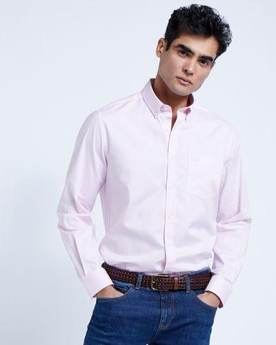 Paul Costelloe Living Pink Stretch Oxford Shirt