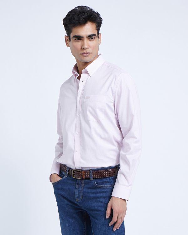 Paul Costelloe Living Pink Stripe Oxford Shirt