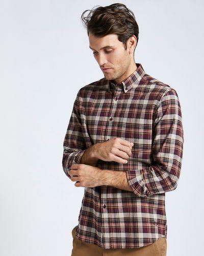 Paul Costelloe Living Wine Check Pc Shirt