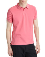 pink Paul Costelloe Living Slim Fit Pique Polo