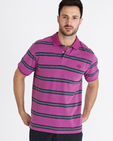 pink Paul Costelloe Living Peached Stripe Polo
