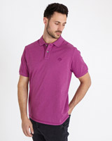 pink Paul Costelloe Living Marl Washed Polo Shirt