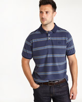 navy-stripe Paul Costelloe Living Navy Stripe Polo