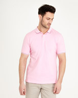 pink Paul Costelloe Living Slim-Fit Stretch Polo