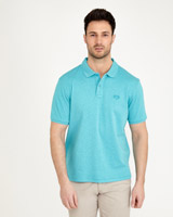 turquoise Paul Costelloe Living Mercerised Pima Cotton Polo