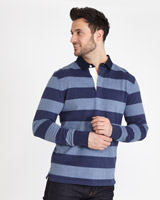 blue-stripe Paul Costelloe Living Block Stripe Rugby Shirt
